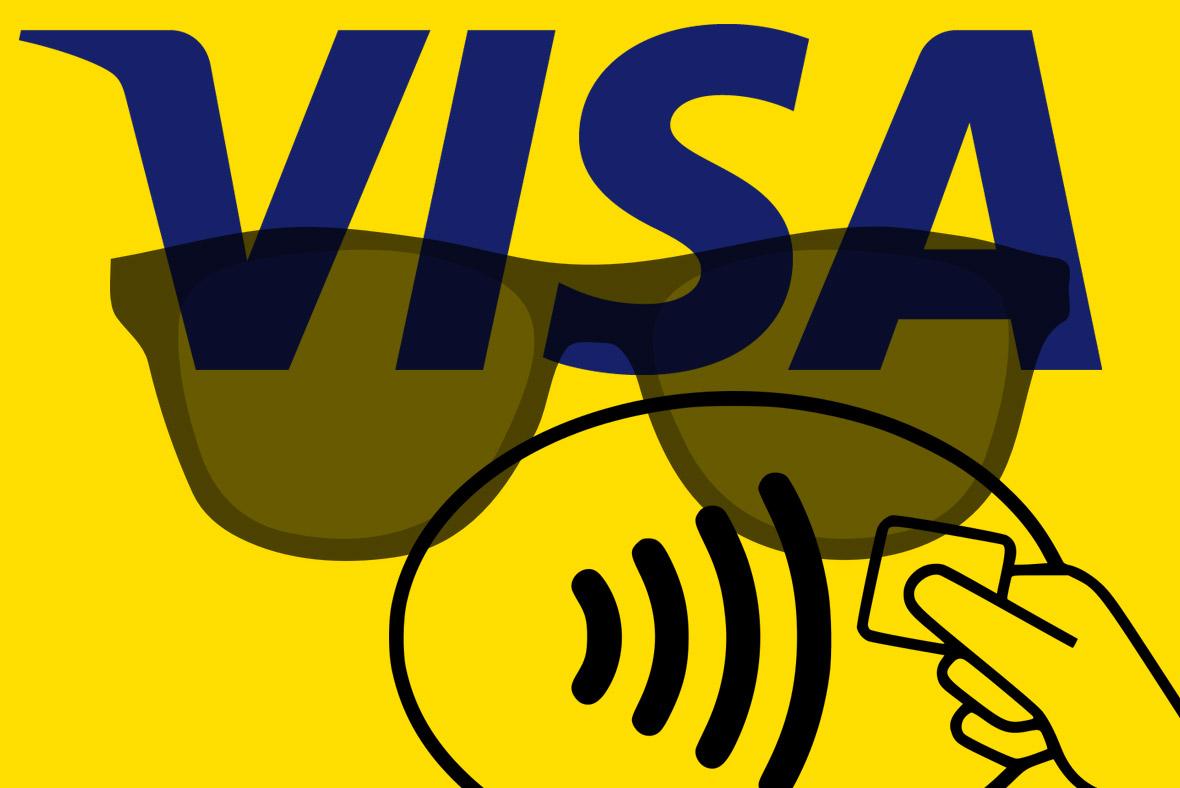 Visa contactless sunglasses