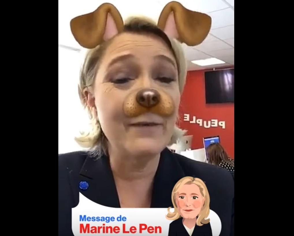 Marine Le Pen Snapchat