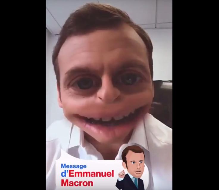 Emmanuel Macron Snapchat