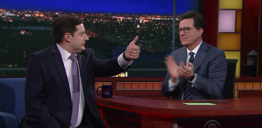 Anthony Atamanuik Stephen Colbert YouTube Screenshot