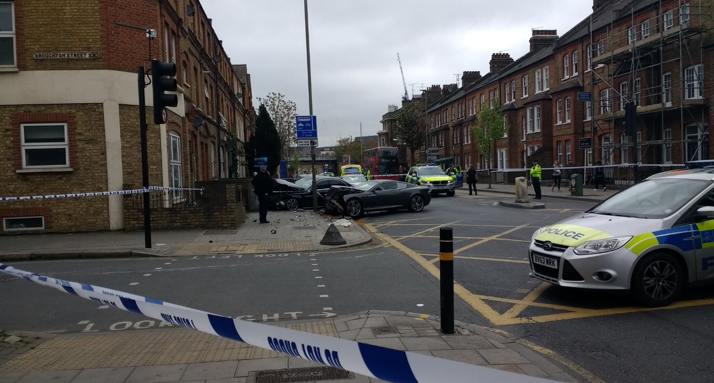Battersea car crash