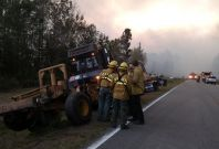 Florida wildfire Nassau