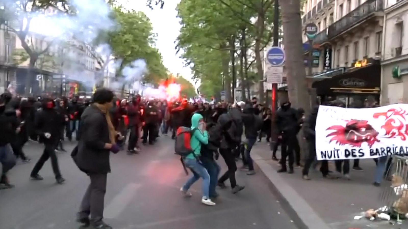 Paris: Protesters clash with police on evening of French presidential election