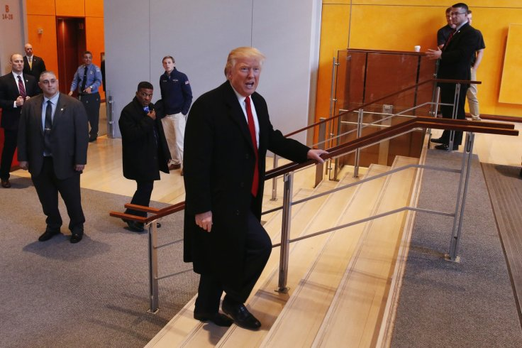 trump stairs