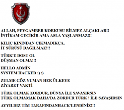 Turkish hackers warning