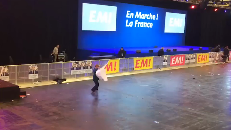 This Emmanuel Macron supporter didn't want election party to end