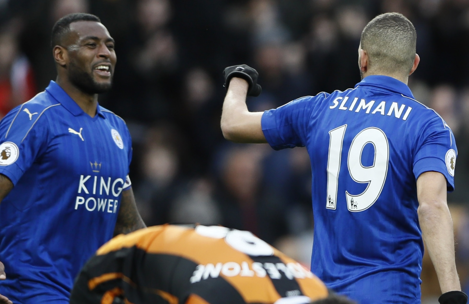 Wes Morgan and Islam Slimani