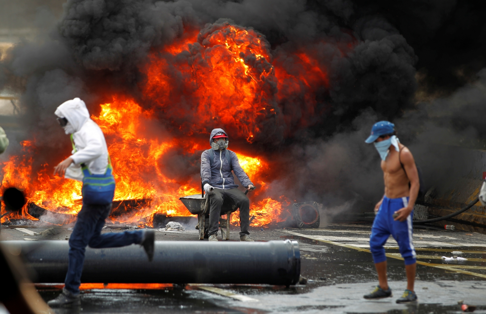 Venezuelans shut down roads and highways in protest