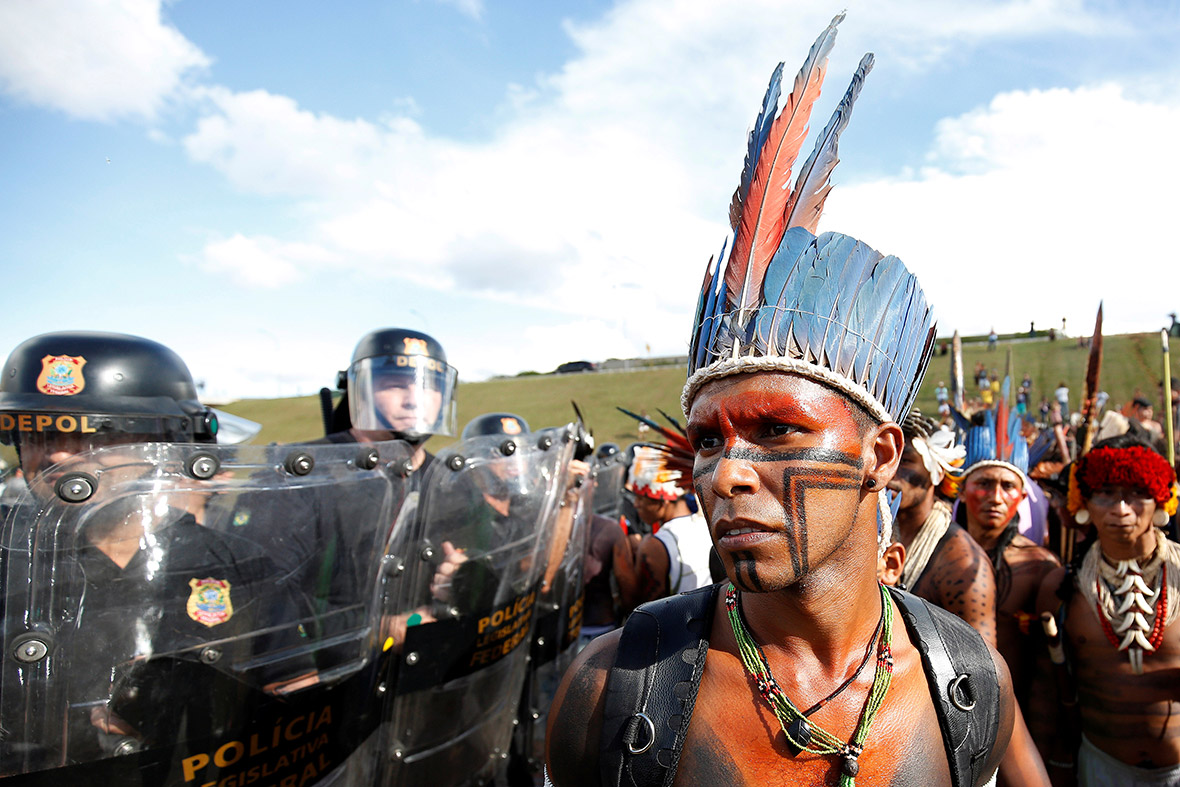 Spears Arrows And Tears Gas Indigenous People Clash