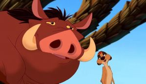 Timon and Pumbaa in The Lion King