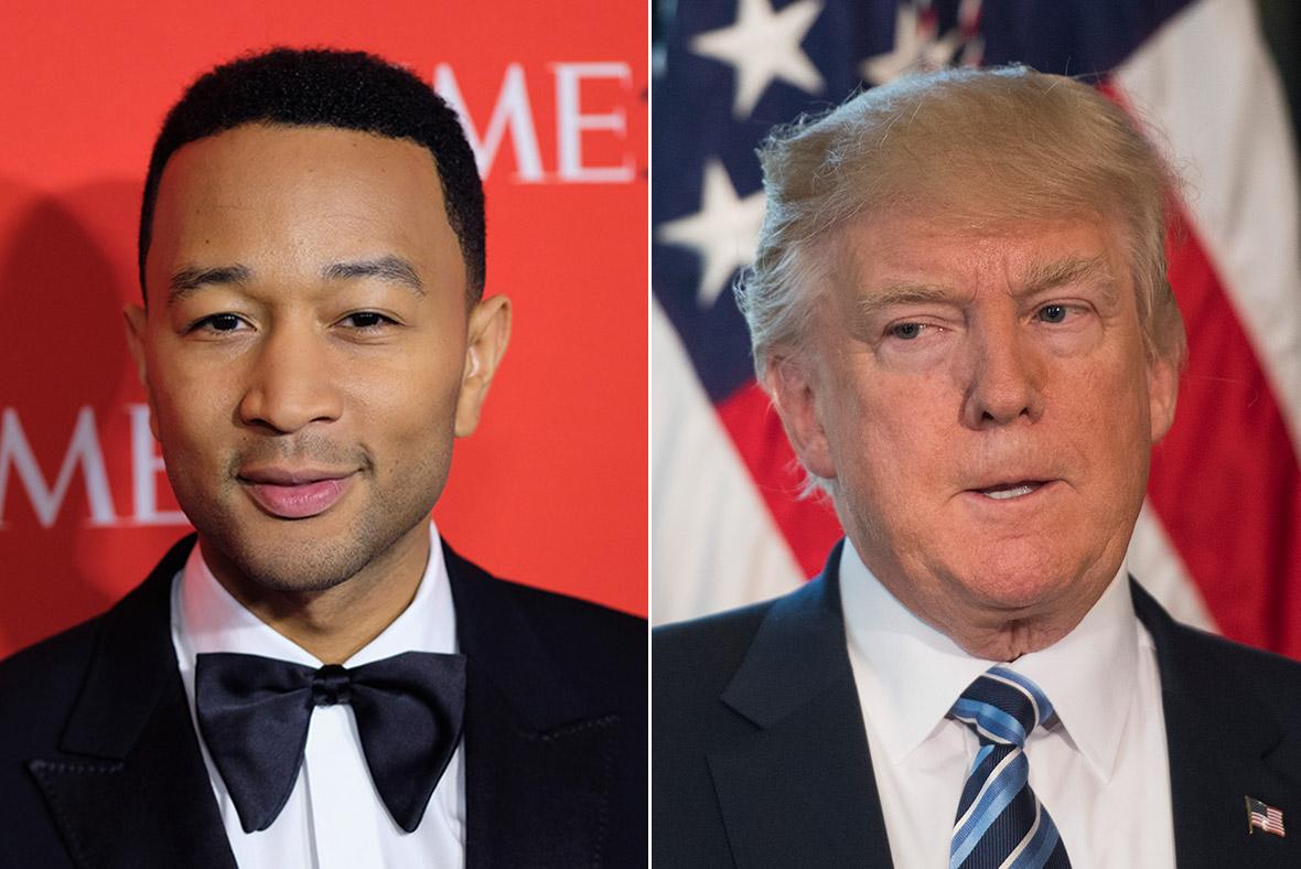 John Legend, Donald Trump
