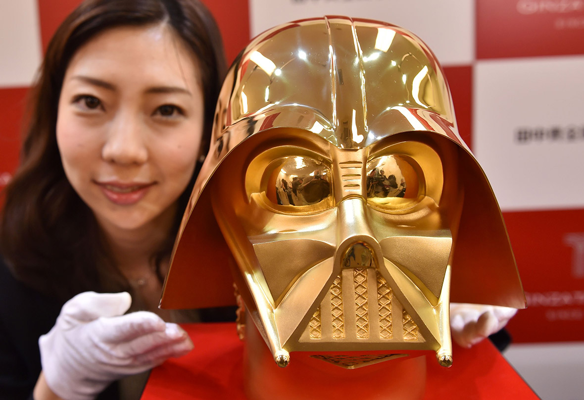 Gold Star Wars mask