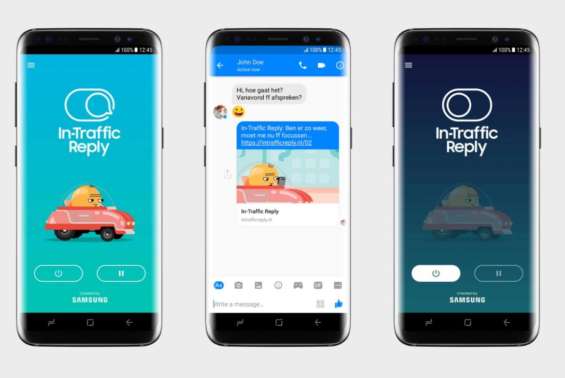 Samsung In-Traffic Reply app