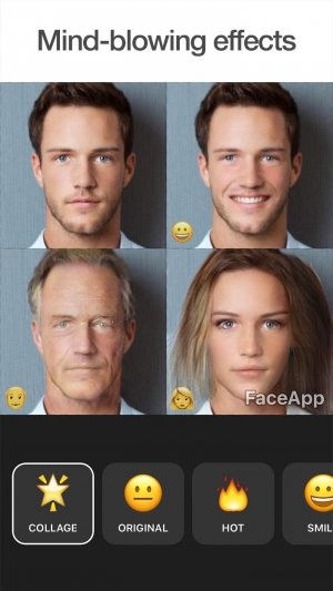FaceApp collage