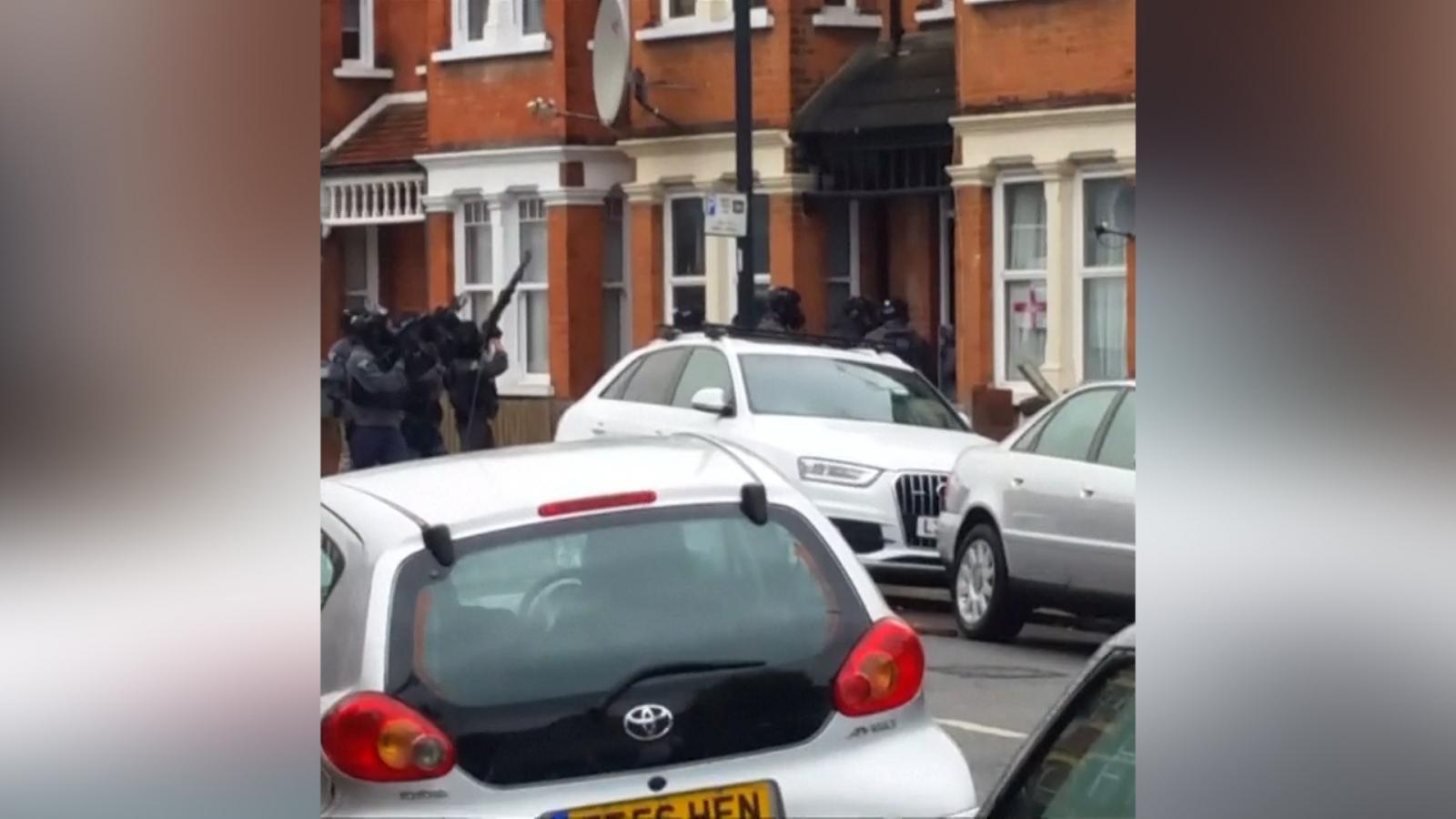Police firing guns in London anti-terror raid