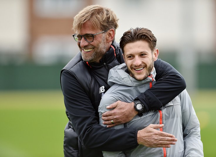 Jurgen Klopp and Adam Lallana