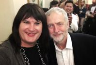 Sophie Cook and Jeremy Corbyn