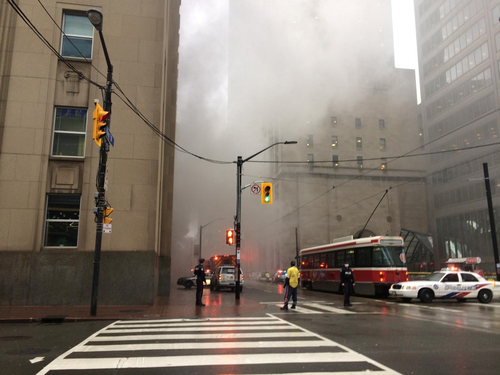 Toronto financial district fire