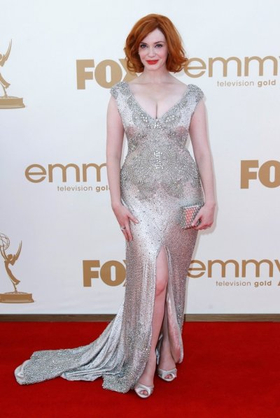 Actress Christina Hendricks arrives at the 63rd Primetime Emmy Awards in Los Angeles