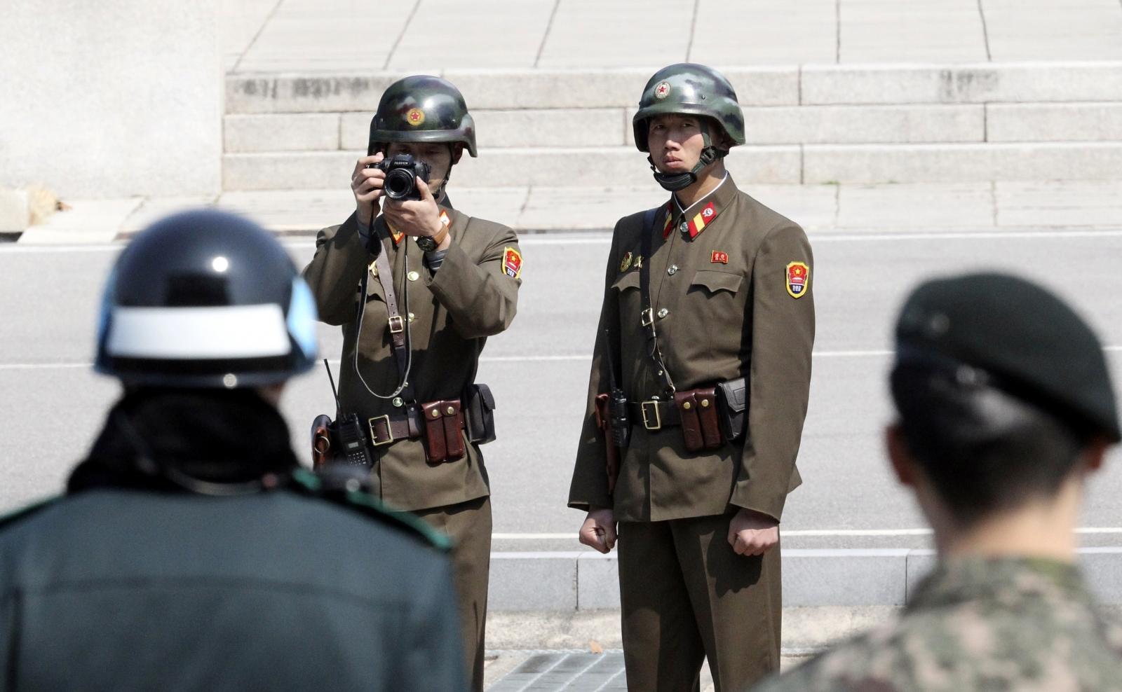 North Korea guards
