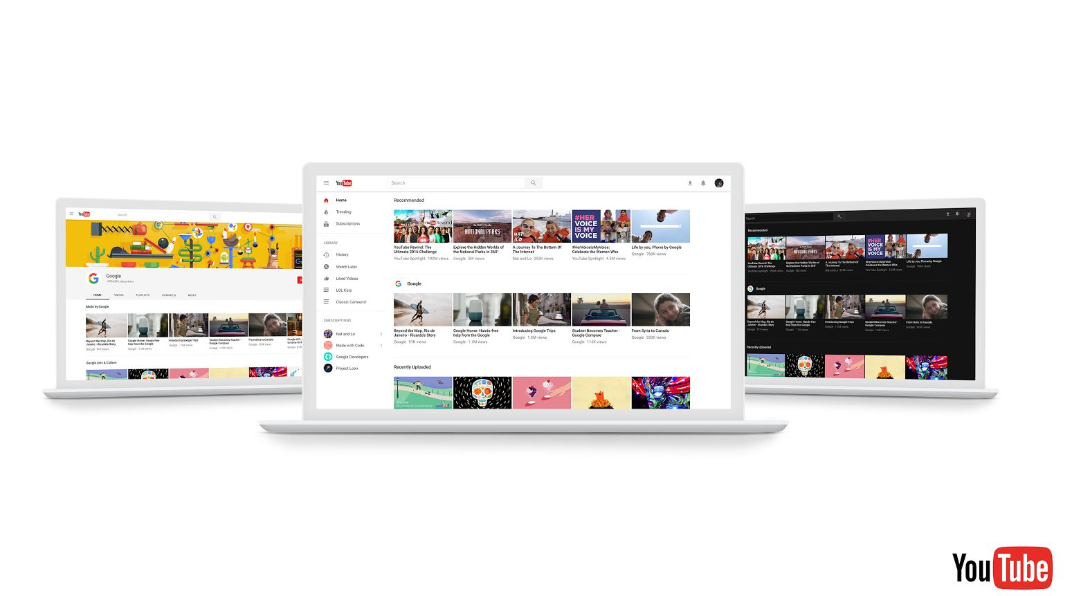 YouTube redesigns desktop site with Material design