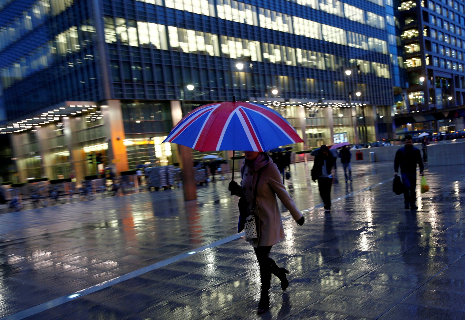 UK umbrella in Canary Wharf
