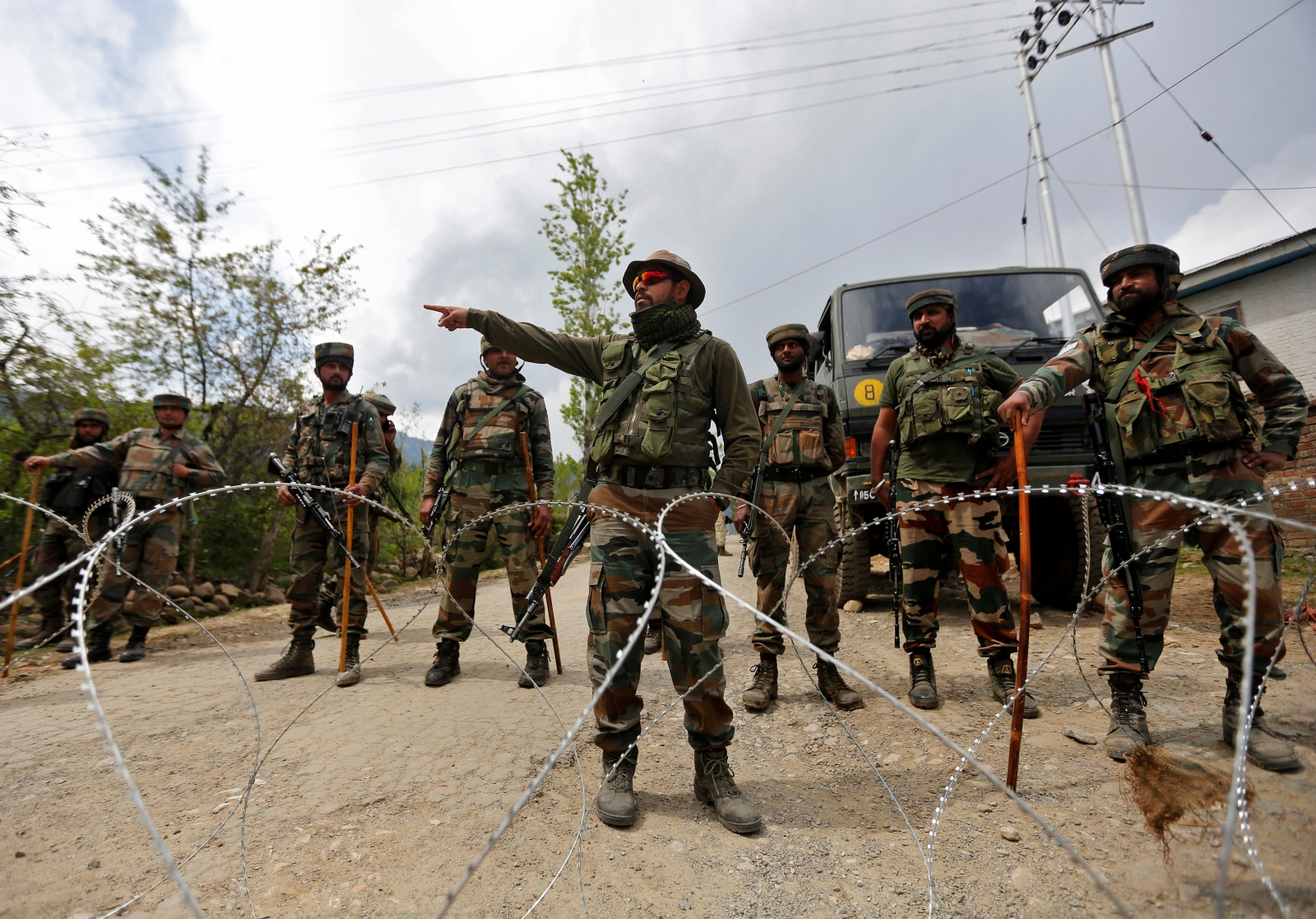 India Kashmir anti-terror crackdown