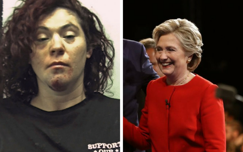 Drunk driver says she is Hillary Clinton