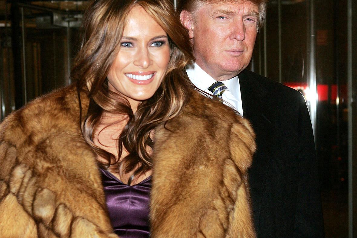 Melania Trump fur