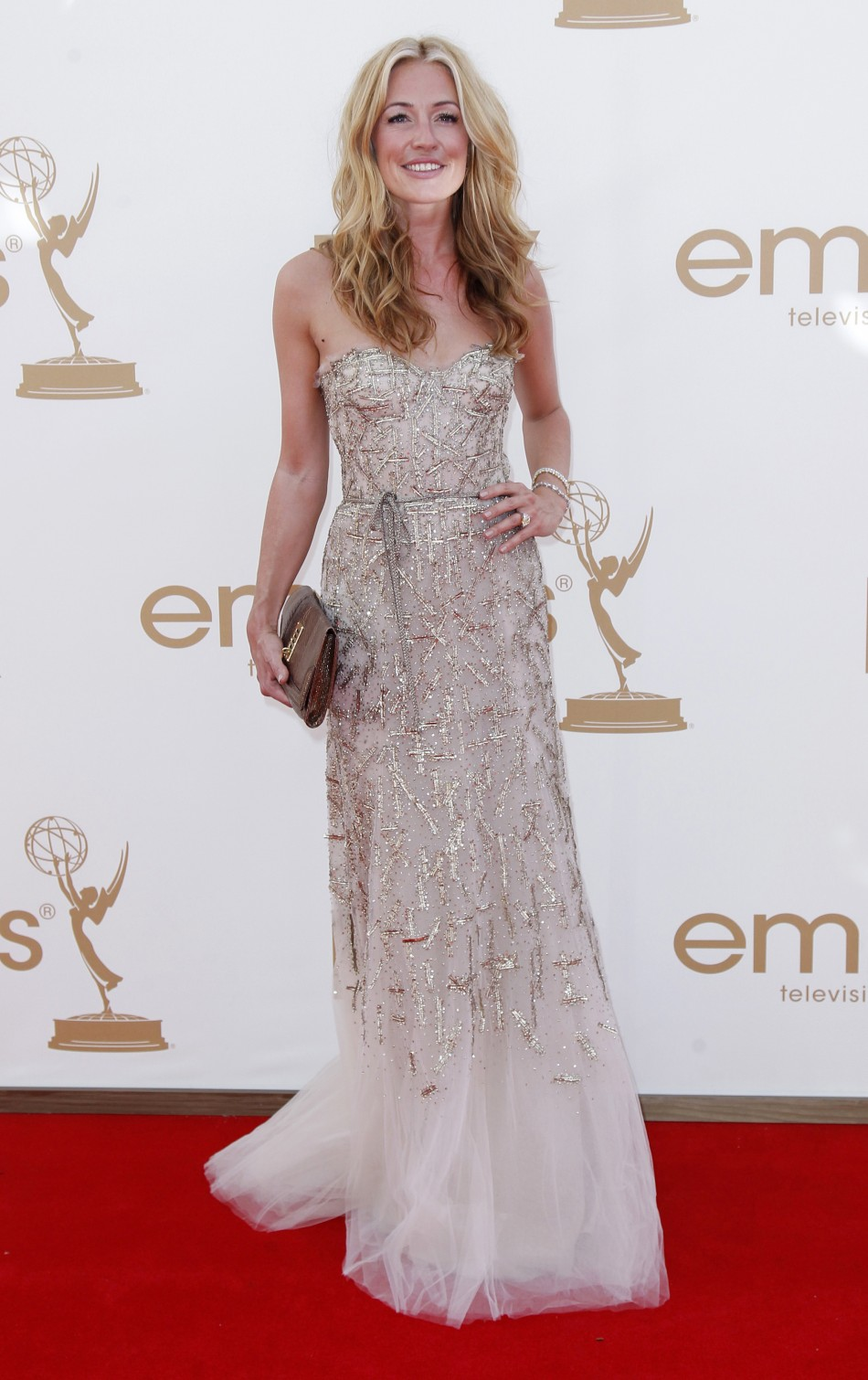 "Cat Deeley from ""So You Think You Can Dance"" arrives at the 63rd Primetime Emmy Awards in Los Angeles"