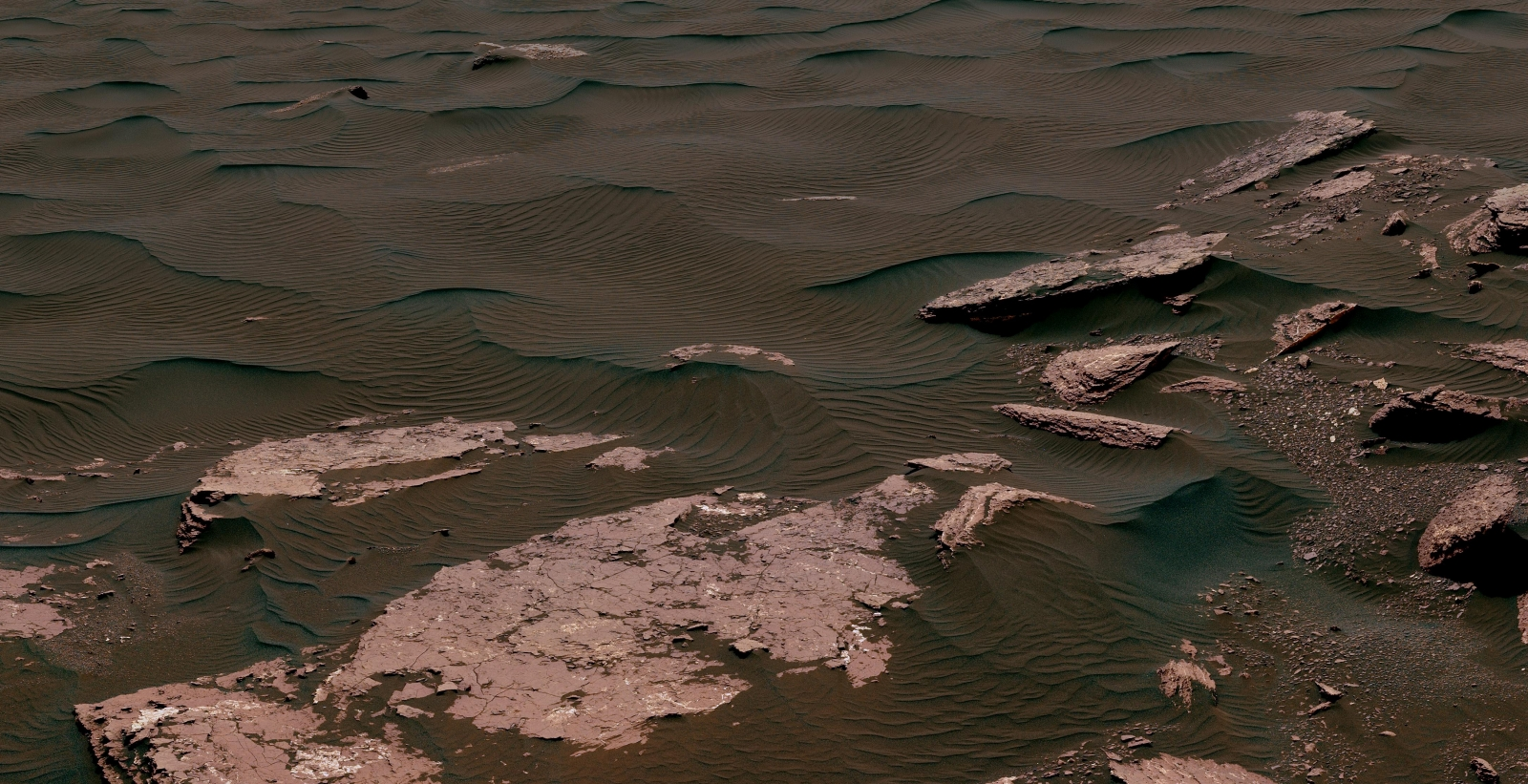 NASA's Mars Curiosity Rover Discovers Dark Sand Dunes on Mars