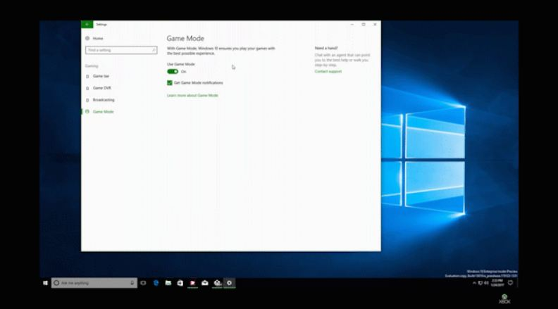 Game Mode in Windows 10 Creators Update