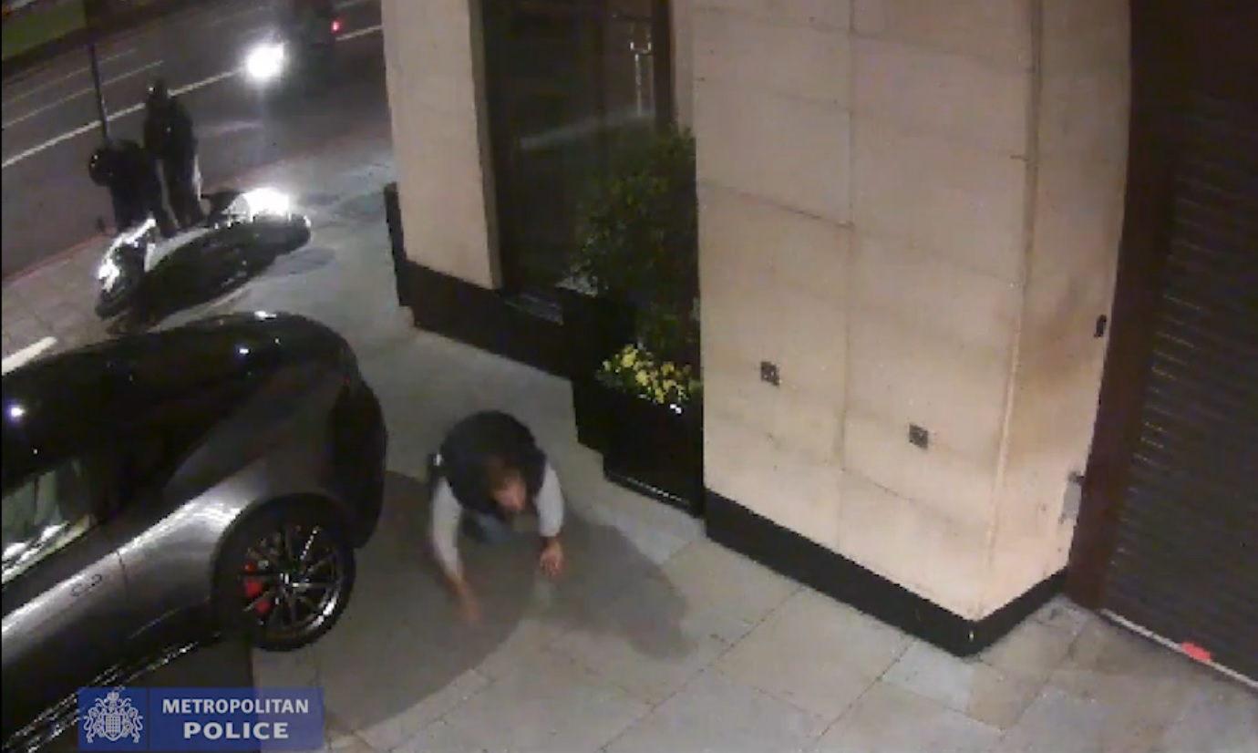 Mayfair moped attack