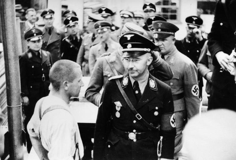 Heinrich Himmler oversaw the Gestapo and the concentration camps.