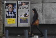 Macron Le Pen posters