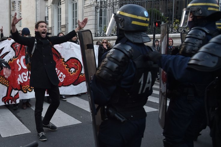 French protest