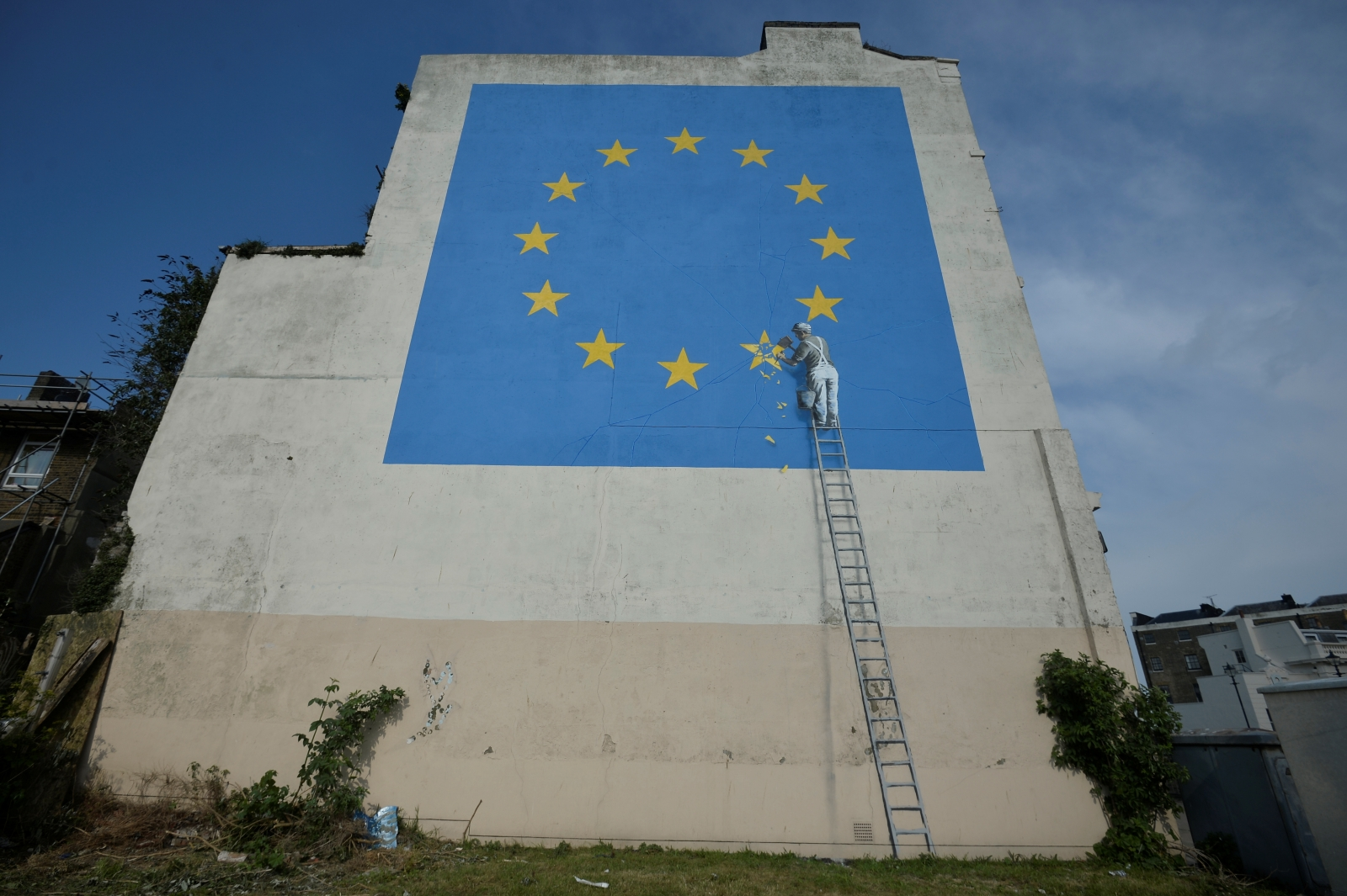Banksy EU flag artwork