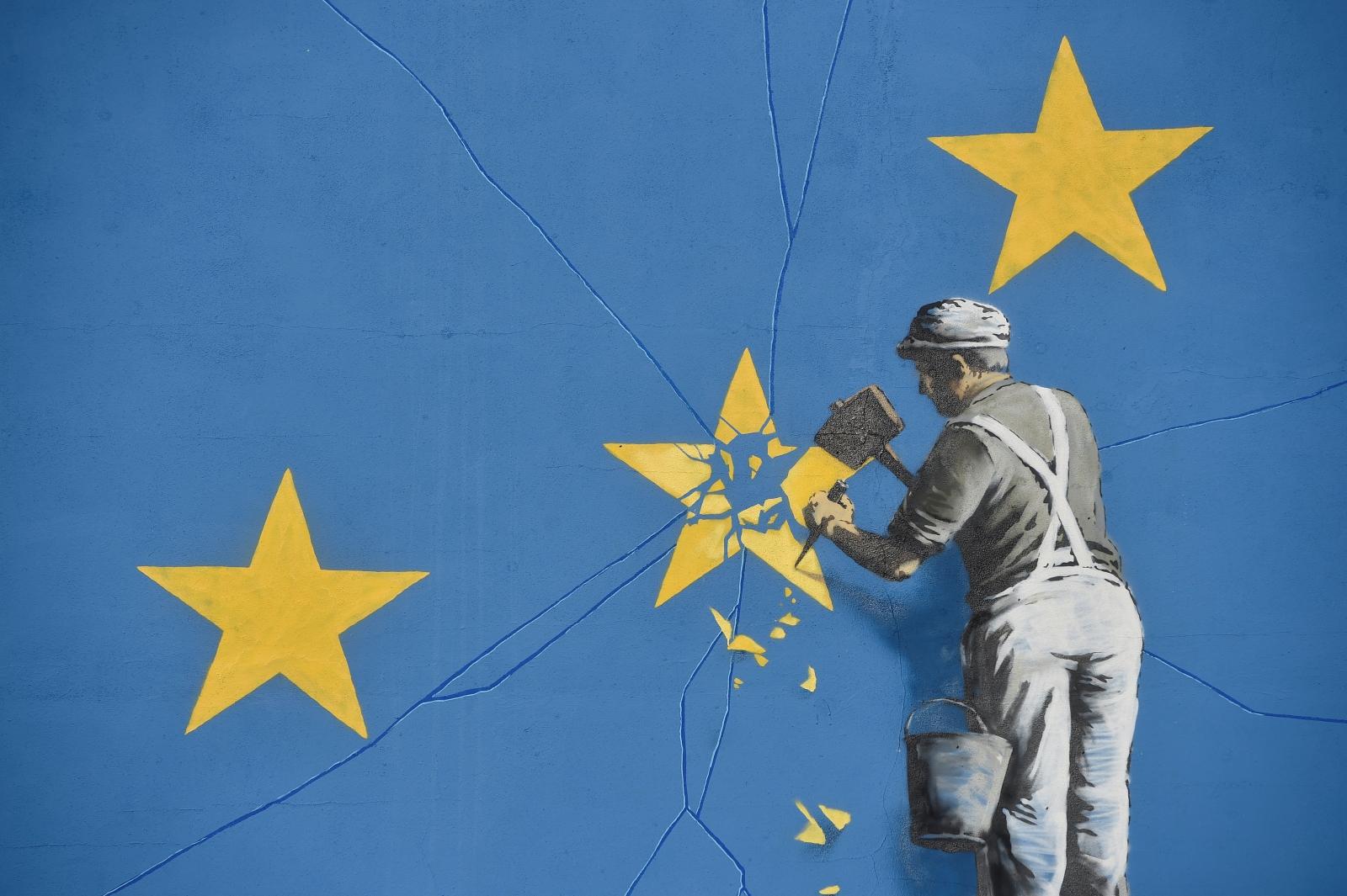 Banksy EU flag artwork