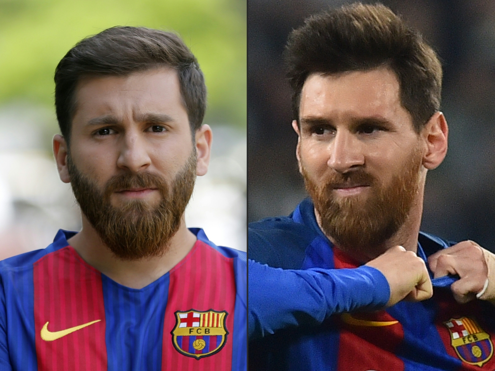 Holy crap, this guy looks EXACTLY like Lionel Messi