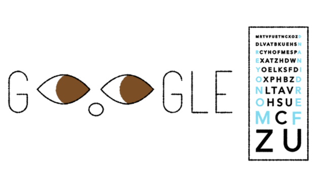Google celebrates 181st birthday of eye test inventor