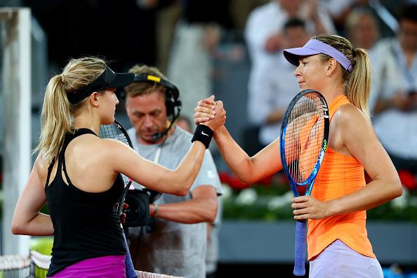 Genie Bouchard and Maria Sharapova