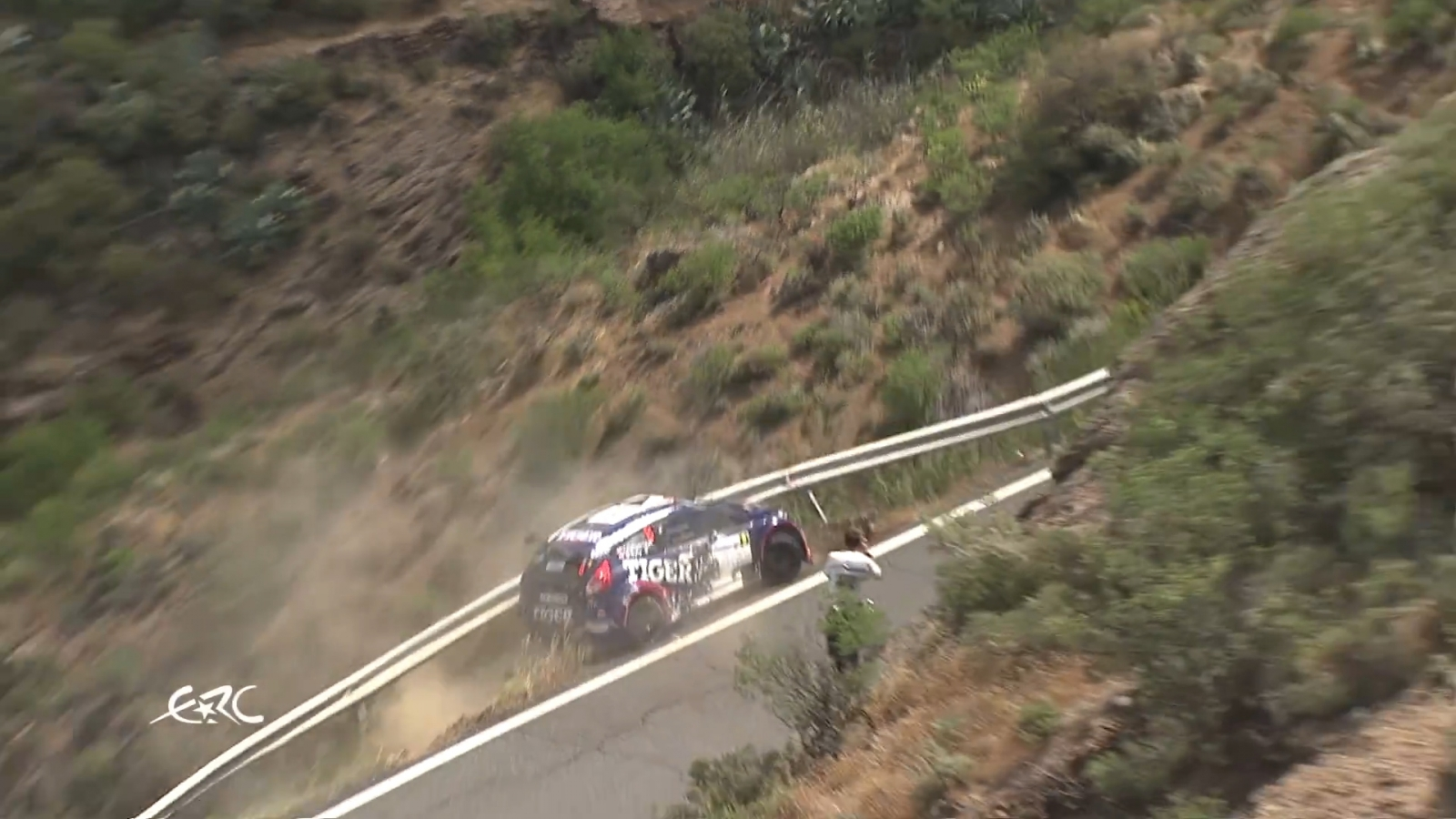 Rally Car Crash Near Miss