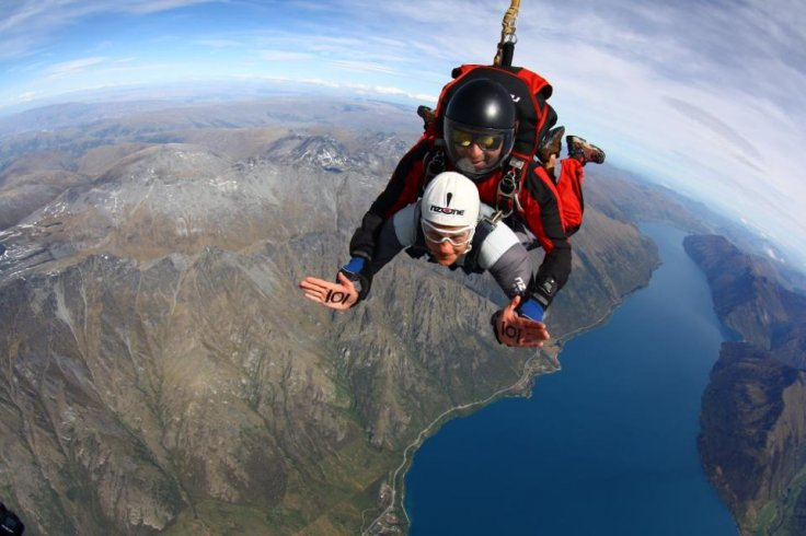 Greig Trout skydiving