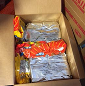 Cocaine packages with Mexican crisps