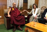 Nancy Pelosi meets Dalai Lama