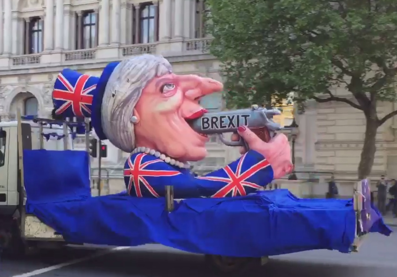 Theresa May Brexit float