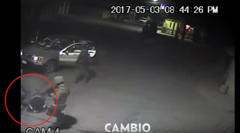 Military shooting in Puebla