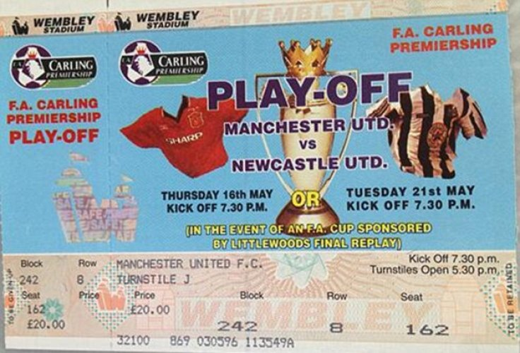 Premier League play-off ticket