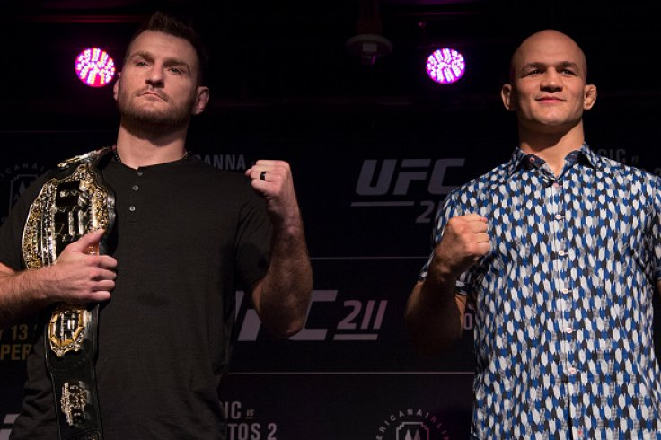 Stipe Miocic and Junior Dos Santos