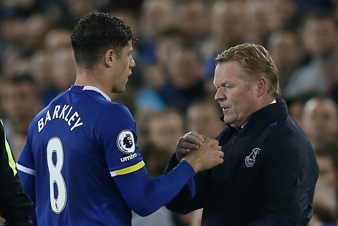 Ross Barkley and Ronald Koeman